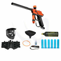 Azodin Blitz Orange Black Paintball Marker Advance Combo Package 7138