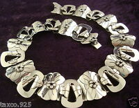 TAXCO MEXICAN 950 SILVER FLORAL FLOWER NECKLACE MEXICO