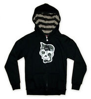 Emily The Strange (Cats Cradle) Zipped Hoodie New Licensed Free Postage Emo Goth