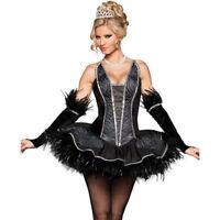 black swan costume movie theater fancy dress dance 6 8 10 12 14 16 ballerina