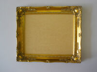 Gold shabby ornate swept 14x11 inch picture frame