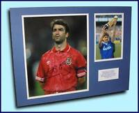 GENUINE KEVIN RATCLIFFE EVERTON WALES HAND SIGNED PHOTO MOUNT COA PROOF