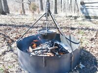 """36"""" Fire Ring with Tripod"""