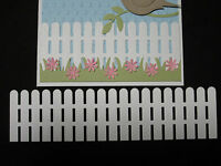 FENCE  Die Cut EMBELIS YOUR CHOICE OF ANY COLOR Stampin Up for cards & scrapbook