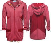 Shisha Brand Lovis Red Womens Girls Zipper Zip Hoodie Hoody Sweater Damen Womens