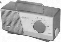 1961 SONY TR-712 RADIO SERVICE MANUAL SCHEMATIC REPAIR PHOTOFACT