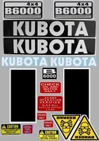 Decal Sticker set.  KUBOTA B6000 / B7000 Compact Tractor