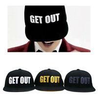 Nwt Get Out Hiphop Sun Caps Base Ball Flat Visor Hats Snapback K-POP BIGBANG GD