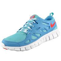 Nike Girls Kids Junior Free Run 2 Running Trainers Teal *AUTHENTIC*