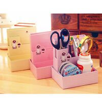 Hot DIY Paper Board Storage Box Desk Decor Stationery Organizer Makeup Cosmetic