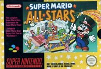 ***SUPER MARIO ALL-STARS SNES SUPER NINTENDO GAME COSMETIC WEAR~~~