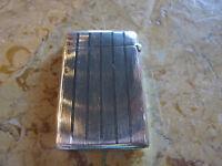 Antique Battin & Co Sterling Silver Match Safe