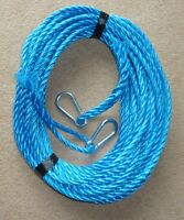 50FT OF NEW 10MM ROPE ANCHOR BOAT MOORING WITH 10MM SNAP HOOKS BOTH ENDS m