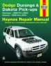 30022 Haynes Repair Manual Dodge Durango (00-03) & Dakota Pick-ups (00-04)