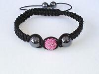 Shamballa Bracelet Pink Crystal Disco Ball  Adjustable High Quality SB9