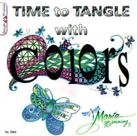 TIME TO TANGLE WITH COLORS-Zentangle Line Drawing-Altered Art Paper Craft Book