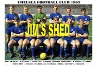 CHELSEA  F.C. TEAM PRINT 1963 (TAMBLING / SHELLITO / VENABLES / MULHOLLAND )