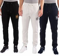 MENS SANTA MONICA POLO CLUB CUFFED TROUSERS SWEAT JOGGERS PANTS SIZES S -XL