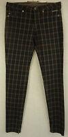 Neuw. Edle MASON'S JEANS Jeans Hose, Baumwolle schoko-taupe kariert Gr. W27 = 36