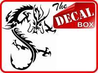 2 x BLACK DRAGON electric guitar case decal sticker