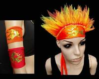 PHOENIX FIRE BIRD DANCE COSTUME ACCESSORIES STAGE FREESTYLE SOLO DISCO HEADDRESS