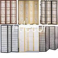 4 & 3 Panel Wood Shoji Room Divider Screen Oriental