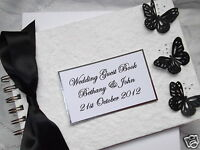 PERSONALISED BUTTERFLY WEDDING GUEST BOOK / ALBUM BIRTHDAY~ANY COLOUR **BOXED**