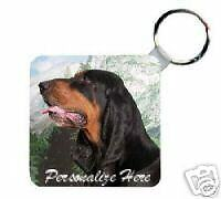 Black & Tan  Coonhound  Personalized  Breed  Key  Chain