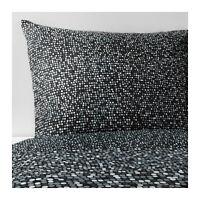 Ikea SMÖRBOLL Grey Single Double King Bed Cotton Duvet Cover P/cases Set