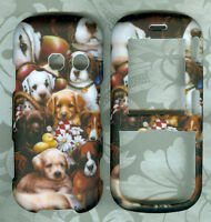puppies LG Cosmos VN250 / Rumor 2 II LX265 SCRIPT HARD PHONE CASE COVER