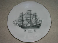 Creamware - ALP LIDKOPING SWEDEN PORCELAIN SHIP 1920'sPLATE KUNGSHOLMSSERVISEN
