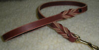 "1/2"" X 23""  LATIGO LEATHER DOG TRAFFIC/SHOW LEASH  SOLID BRASS SWIVEL BOLT SNAP"