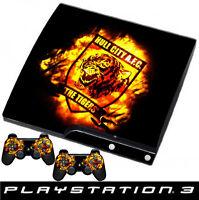 Playstation 3 schlanke Hull City skin + 2 x controller folien