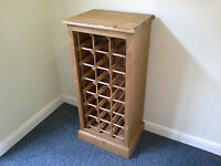 Pine 21 bottle wine rack unit made by our own carpenters