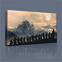 LORD OF THE RINGS - THE HOBBIT GIANT ICONIC CANVAS ART PRINT by Art Williams #05