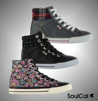 New Kids Girls Branded SoulCal Full Lace Asti Hi Tops Trainers Shoes Size C10-2