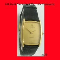 Mint 18k Gold Baume& Mercier Auto Retro Gents Watch 1970