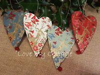 GISELA GRAHAM Christmas Tree Decoration Traditional Sentiment Heart Stag Statley