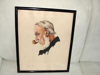 1  PORTRAIT - Aquarell  -  von 1937 - Original-Signatur
