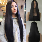 Womens Long Straight Full Wig Hair Lady Heat Resistant Cosplay Anime Wig No Bang
