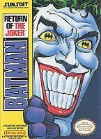 BATMAN: RETURN OF THE JOKER NES NINTENDO GAME COSMETIC WEAR