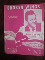 "Sheet Music "" Broken Wings"""