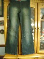 Stunning R & B Indigo Bead Jeans Size 12