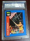 Hulk Hogan Signed 1991 Classic WWF Card PSA/DNA Auto'd WWE #111 Autographed WCW