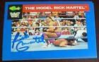 Rick Martel Signed 1991 WWF WWE Classic Card #128 Autograph Auto'd The Model AWA