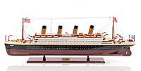 """Titanic Ocean Liner Wooden Model 32"""" White Star Cruise Ship Built Boat New"""