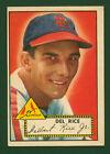 1952 Topps #100 Delbert Del Rice St. Louis Cardinals Baseball Card