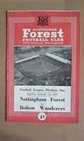NOTTINGHAM FOREST V BOLTON WANDERERS 1958-59