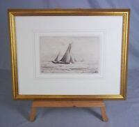 c1920 Norman Wilkinson 1878-1971 Etching 'West Country Fishermen', Signed
