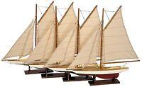 AS057A Mini Pond Yachts set/4 Model Sailboat Nautical boat Playroom nursery NEW